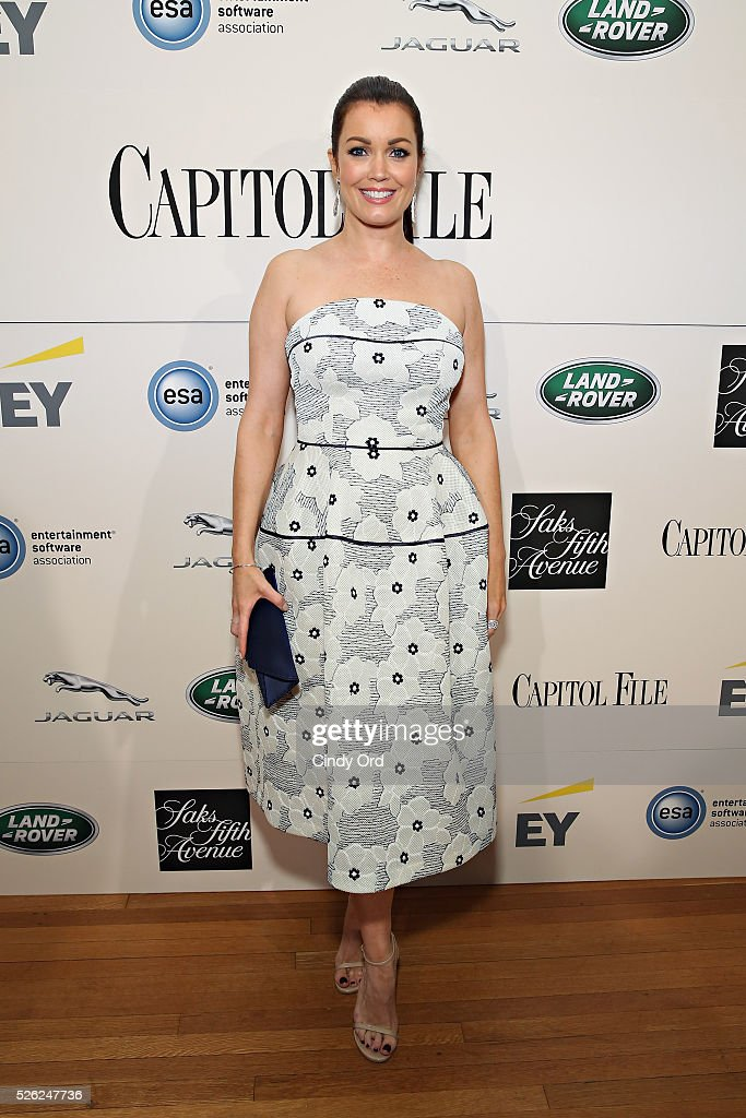 Actress Bellamy Young attends as Jaguar Land Rover sponsor Capitol File's White House Correspondents' Dinner Party on April 30, 2016 in Washington, DC.