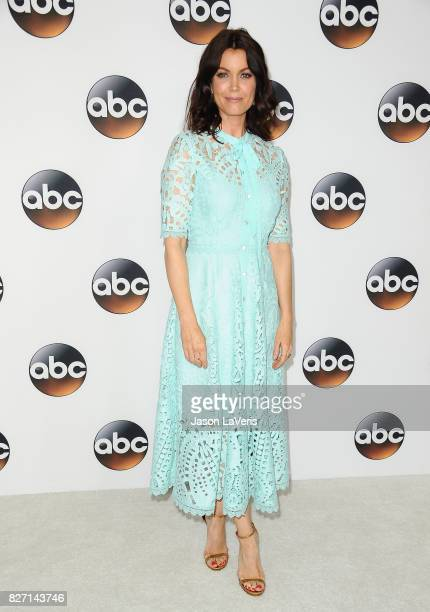 Actress Bellamy Young attends the Disney ABC Television Group TCA summer press tour at The Beverly Hilton Hotel on August 6 2017 in Beverly Hills...