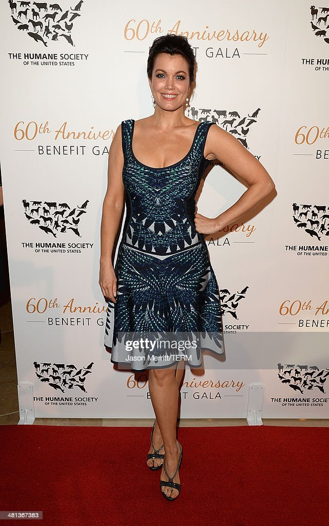 Actress <a gi-track='captionPersonalityLinkClicked' href=/galleries/search?phrase=Bellamy+Young&family=editorial&specificpeople=4135230 ng-click='$event.stopPropagation()'>Bellamy Young</a> attends the Humane Society of The United States 60th Anniversary Gala at The Beverly Hilton Hotel on March 29, 2014 in Beverly Hills, California.