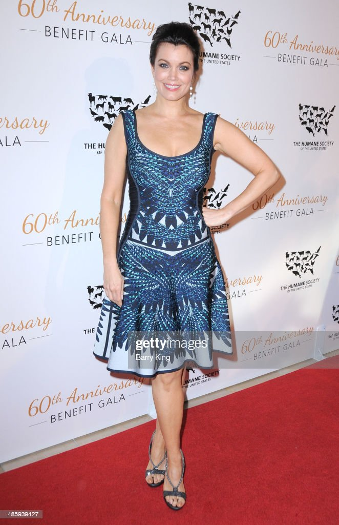 Actress <a gi-track='captionPersonalityLinkClicked' href=/galleries/search?phrase=Bellamy+Young&family=editorial&specificpeople=4135230 ng-click='$event.stopPropagation()'>Bellamy Young</a> attends the Humane Society Of The United States 60th Anniversary Benefit Gala on March 29, 2014 at The Beverly Hilton Hotel in Beverly Hills, California.