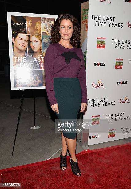 Actress Bellamy Young attends the premiere of RADiUS' 'The Last Five Years' at ArcLight Hollywood on February 11 2015 in Hollywood California