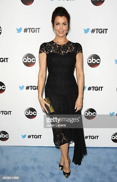 Actress Bellamy Young attends the #TGIT premiere event hosted by Twitter at Palihouse Holloway on September 20 2014 in West Hollywood California