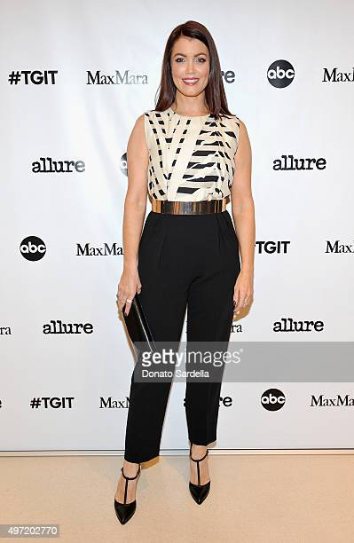 Actress Bellamy Young wearing MaxMara attends 'MaxMara Allure Celebrate ABC's #TGIT' at MaxMara on November 14 2015 in Beverly Hills California