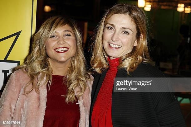 Actress Berangere Krief and Producer Julie Gayet attend 'Fete du Court Metrage' Opening Ceremony at Carreaux du Temple on December 15 2016 in Paris...