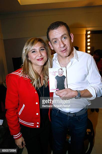 Actress Berengere Krief and humorist Dany Boon pose Backstage after the triumph of the 'Dany De Boon Des HautsDeFrance' Show at L'Olympia on December...