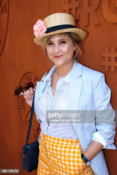 Actress Berengere Krief attends the 2017 French Tennis Open Day Five at Roland Garros on June 1 2017 in Paris France