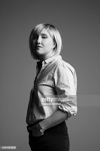 Actress Berengere Krief is photographed for Self Assignment on February 4 2016 in Paris France