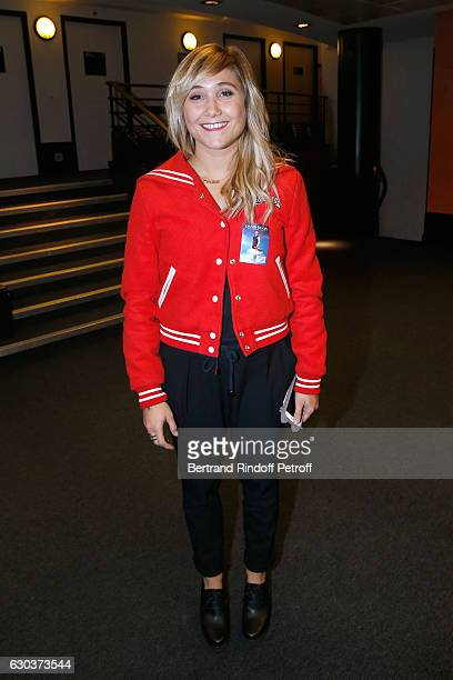 Actress Berengere Krief poses Backstage after the triumph of the 'Dany De Boon Des HautsDeFrance' Show at L'Olympia on December 10 2016 in Paris...