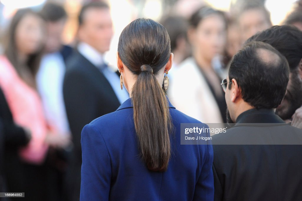 Actress Berenice Bejo and director Asghar Farhad attend the Premiere of 'Le Passe' (The Past) during The 66th Annual Cannes Film Festival at Palais des Festivals on May 17, 2013 in Cannes, France.