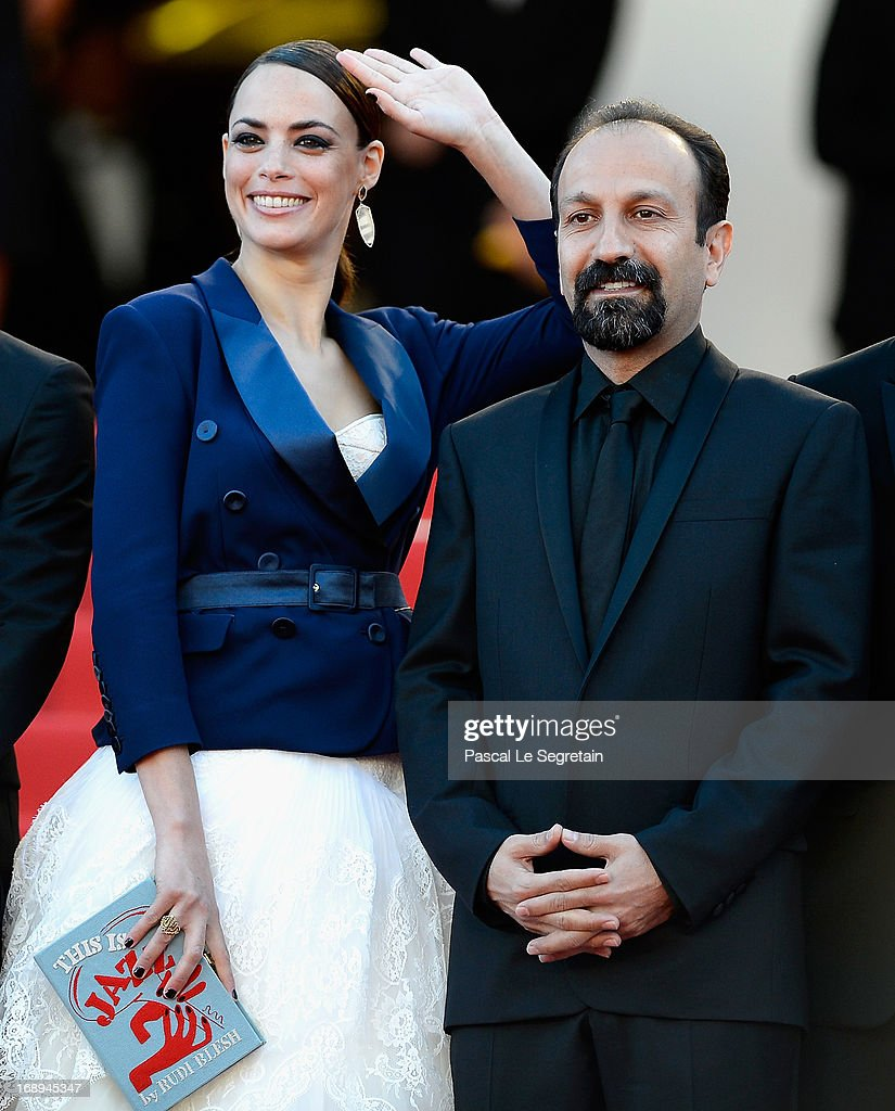 Actress Berenice Bejo and director Asghar Farhadi attend the Premiere of 'Le Passe' (The Past) during The 66th Annual Cannes Film Festival at Palais des Festivals on May 17, 2013 in Cannes, France.