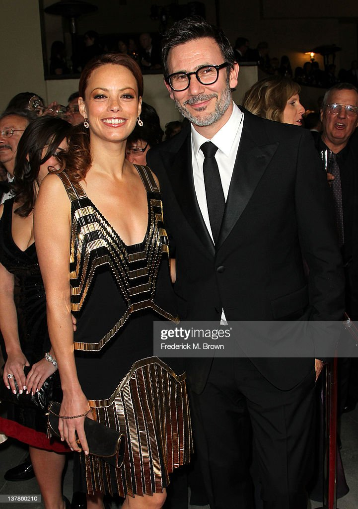 Actress Berenice Bejo (L) and Director Michel Hazanavicius arrive at the 64th Annual Directors Guild Of America Awards held at the Grand Ballroom at Hollywood & Highland on January 28, 2012 in Hollywood, California.