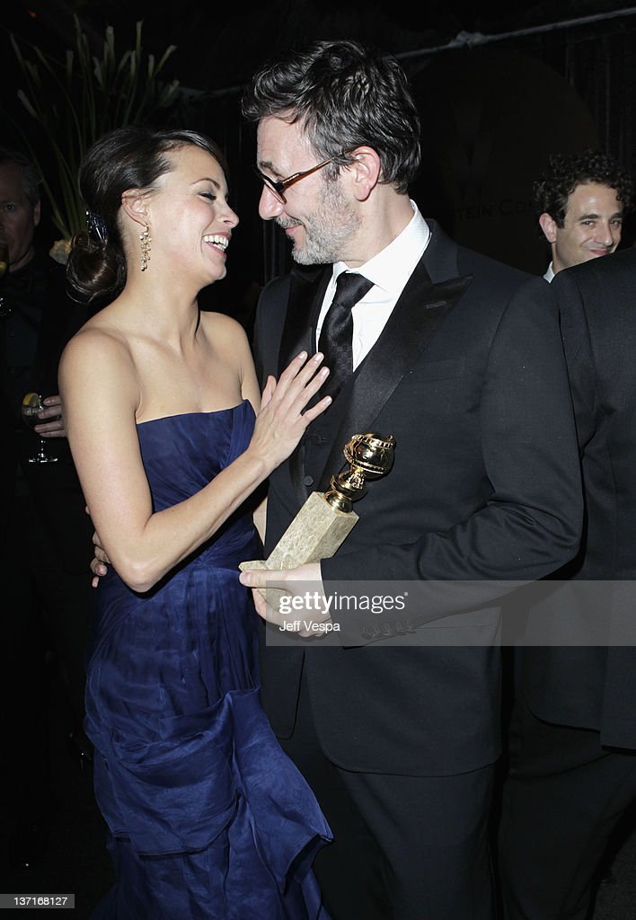 Actress Berenice Bejo and director <a gi-track='captionPersonalityLinkClicked' href=/galleries/search?phrase=Michel+Hazanavicius&family=editorial&specificpeople=678372 ng-click='$event.stopPropagation()'>Michel Hazanavicius</a> attend The Weinstein Company's 2012 Golden Globe Awards After Party with Chopard, Marie Claire and HP at The Beverly Hilton hotel on January 15, 2012 in Beverly Hills, California.