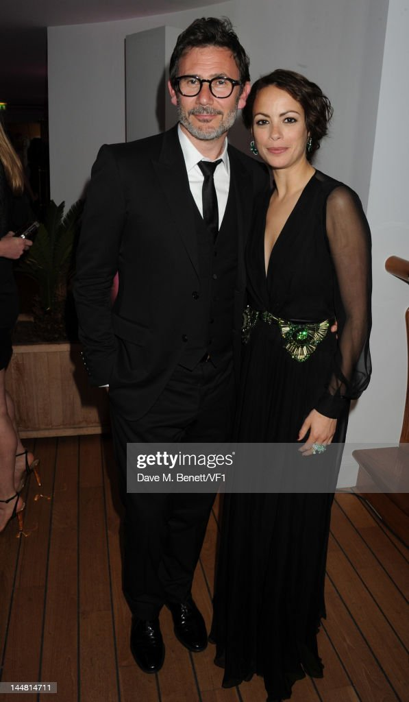 Actress Berenice Bejo and director <a gi-track='captionPersonalityLinkClicked' href=/galleries/search?phrase=Michel+Hazanavicius&family=editorial&specificpeople=678372 ng-click='$event.stopPropagation()'>Michel Hazanavicius</a> attend the Vanity Fair And Gucci Party during the 65th Annual Cannes Film Festival at Hotel Du Cap on May 19, 2012 in Antibes, France.