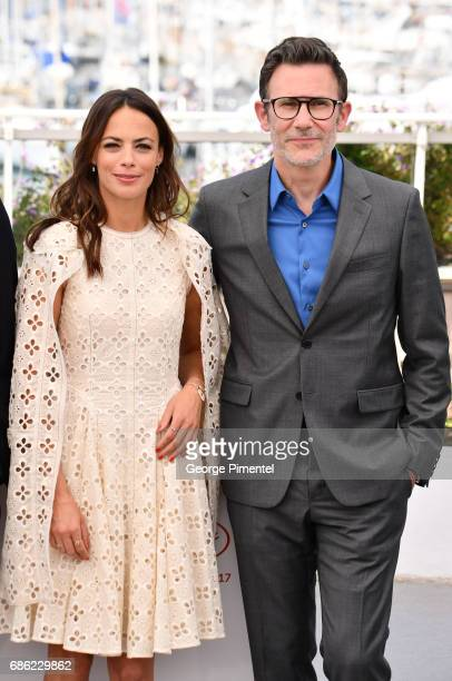 Actress Berenice Bejo and director Michel Hazanavicius attend the 'Redoubtable ' photocall during the 70th annual Cannes Film Festival at Palais des...