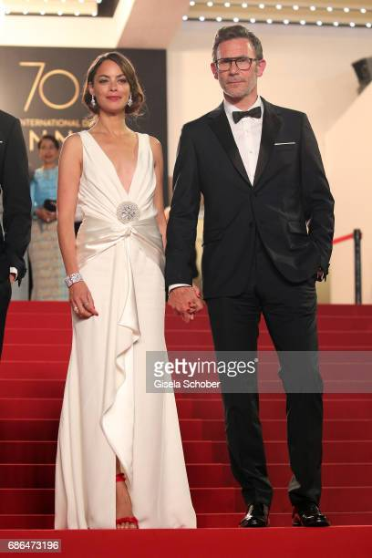 Actress Berenice Bejo and director Michel Hazanavicius attend the 'Redoubtable ' screening during the 70th annual Cannes Film Festival at Palais des...