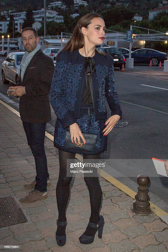 Actress Berenice Bejo arrives to attend the 'Vanity Fair Chanel' dinner at 'Tetou' restaurant during the 66th Annual Cannes Film Festival on May 19, 2013 in Le Golfe Juan, France.