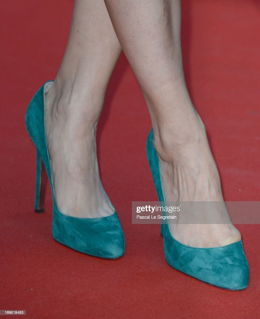 Actress Berenice Bejo (shoe detail) attends the 'Zulu' Premiere and Closing Ceremony during the 66th Annual Cannes Film Festival at the Palais des Festivals on May 26, 2013 in Cannes, France.