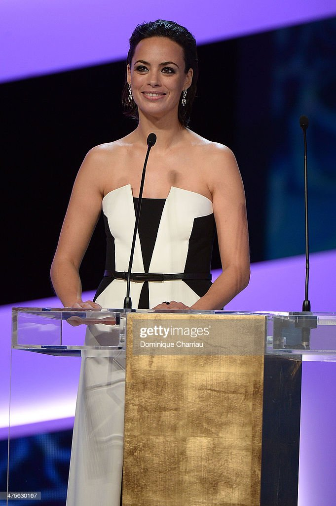 Actress Berenice Bejo presents on stage during the 39th Cesar Film Awards 2014 at Theatre du Chatelet on February 28, 2014 in Paris, France.