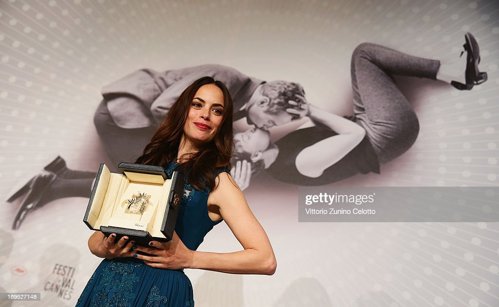 Actress Berenice Bejo, winner of 'Prix d'Interpretation Feminine' (Best Actress award) speaks at the Palme D'Or Winners Press Conference during the 66th Annual Cannes Film Festival at the Palais des Festivals on May 26, 2013 in Cannes, France.