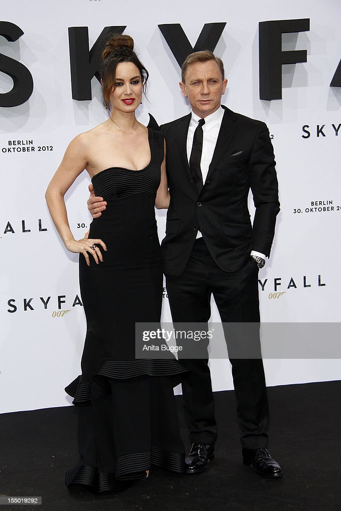 Actress <a gi-track='captionPersonalityLinkClicked' href=/galleries/search?phrase=Berenice+Marlohe&family=editorial&specificpeople=6966628 ng-click='$event.stopPropagation()'>Berenice Marlohe</a> and actor Daniel Craig attend the 'Skyfall' Germany premiere at Theater am Potsdamer Platz on October 30, 2012 in Berlin, Germany.