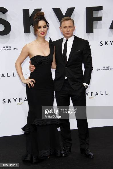 Actress Berenice Marlohe and actor Daniel Craig attend the 'Skyfall' Germany premiere at Theater am Potsdamer Platz on October 30 2012 in Berlin...