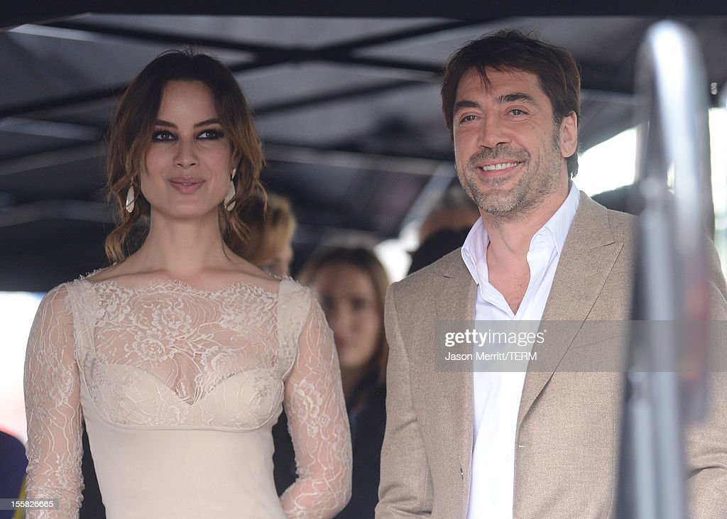 Actress Berenice Marlohe and actor Javier Bardem attend the Walk Of Fame ceremony as Javier Bardem is honored with a star on the Hollywood Walk Of Fame held on November 8, 2012 in Hollywood, California.