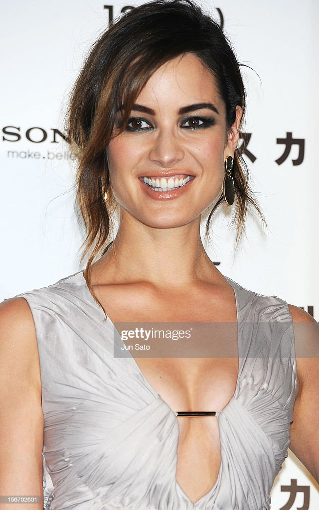 Actress Berenice Marlohe appears on stage while attending the 'Skyfall' Japan Premiere at Toho Cinemas Nichigeki on November 19, 2012 in Tokyo, Japan. The film will open on December 1 in Japan.
