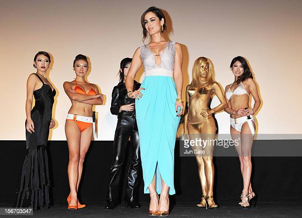 Actress Berenice Marlohe appears on stage while attending the 'Skyfall' Japan Premiere at Toho Cinemas Nichigeki on November 19 2012 in Tokyo Japan...