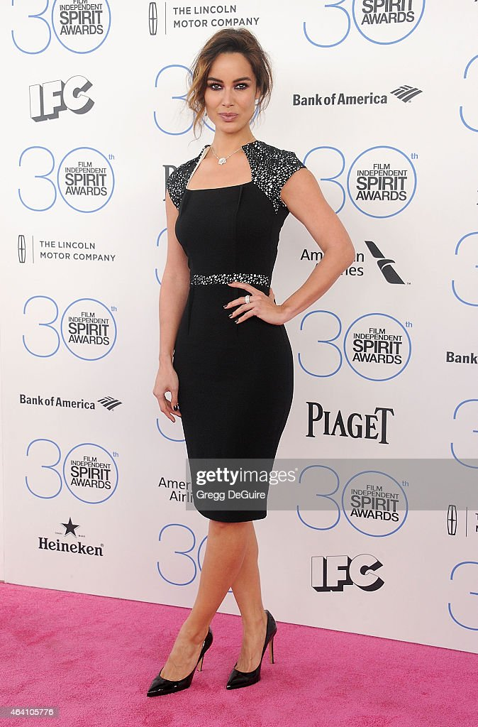 Actress Berenice Marlohe arrives at the 2015 Film Independent Spirit Awards on February 21 2015 in Santa Monica California