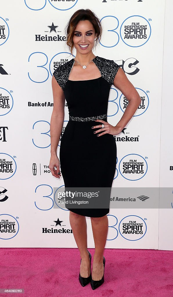 Actress Berenice Marlohe attends the 2015 Film Independent Spirit Awards on February 21 2015 in Santa Monica California