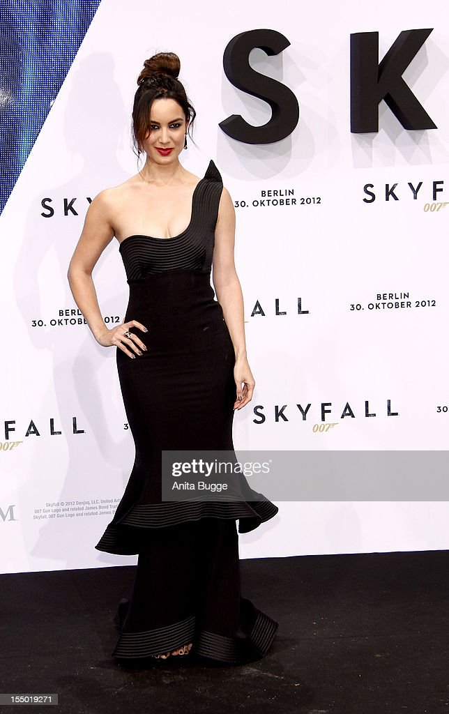 Actress Berenice Marlohe attends the 'Skyfall' Germany premiere at Theater am Potsdamer Platz on October 30, 2012 in Berlin, Germany.