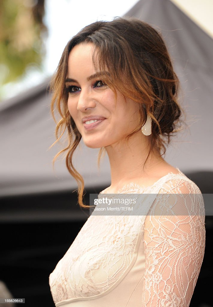 Actress Berenice Marlohe attends the Walk Of Fame ceremony as Javier Bardem is honored with a star on the Hollywood Walk Of Fame held on November 8, 2012 in Hollywood, California.