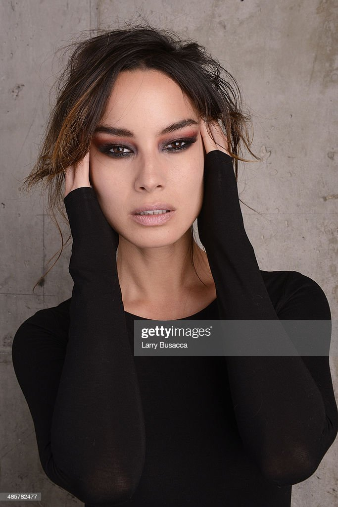 Actress Berenice Marlohe from '5 to 7' poses for the 2014 Tribeca Film Festival Getty Images Studio on April 19 2014 in New York City