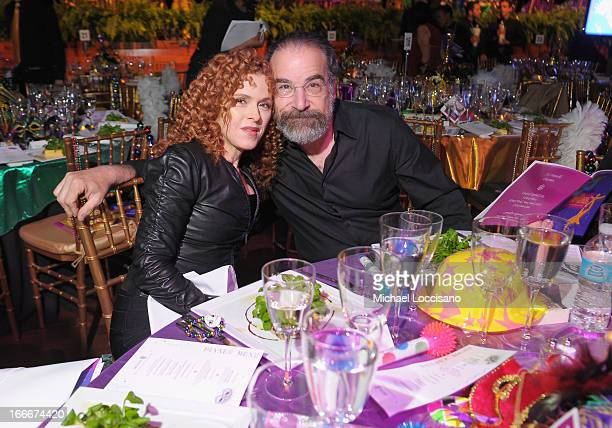 Actress Bernadette Peters and actor/honoree Mandy Patinkin attend the 2013 National Dance Institute Gala's 'Big Easy Celebration' at Best Buy Theatre...