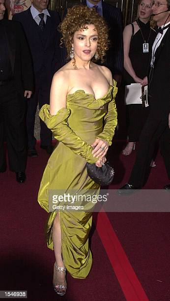 Actress Bernadette Peters arrives for the 56th Annual Tony Awards at Radio City Music Hall June 2 2002 in New York City The Tony Awards are presented...
