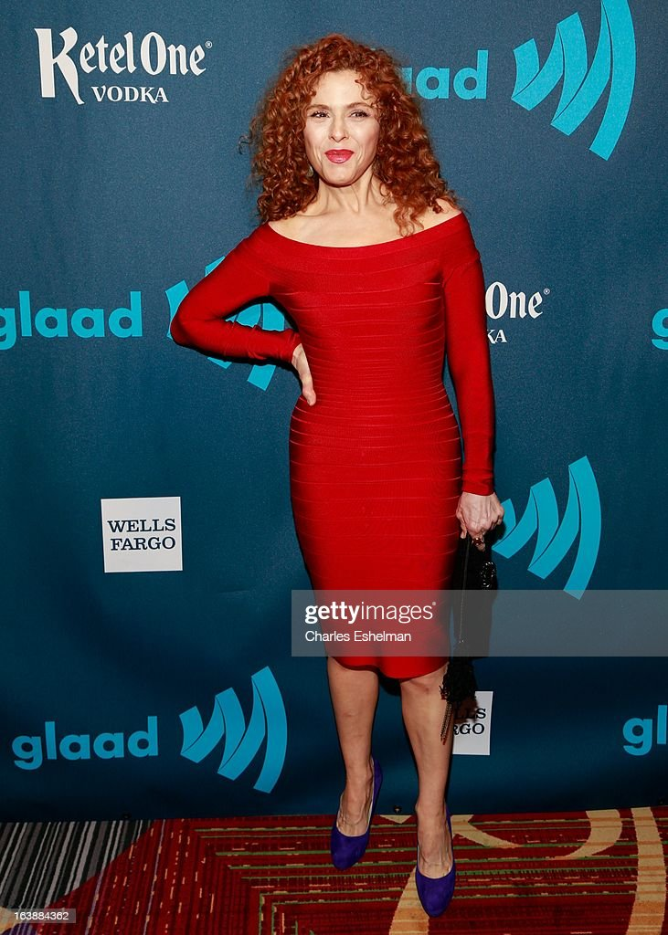 Actress Bernadette Peters attends the 24th annual GLAAD Media awards at The New York Marriott Marquis on March 16, 2013 in New York City.