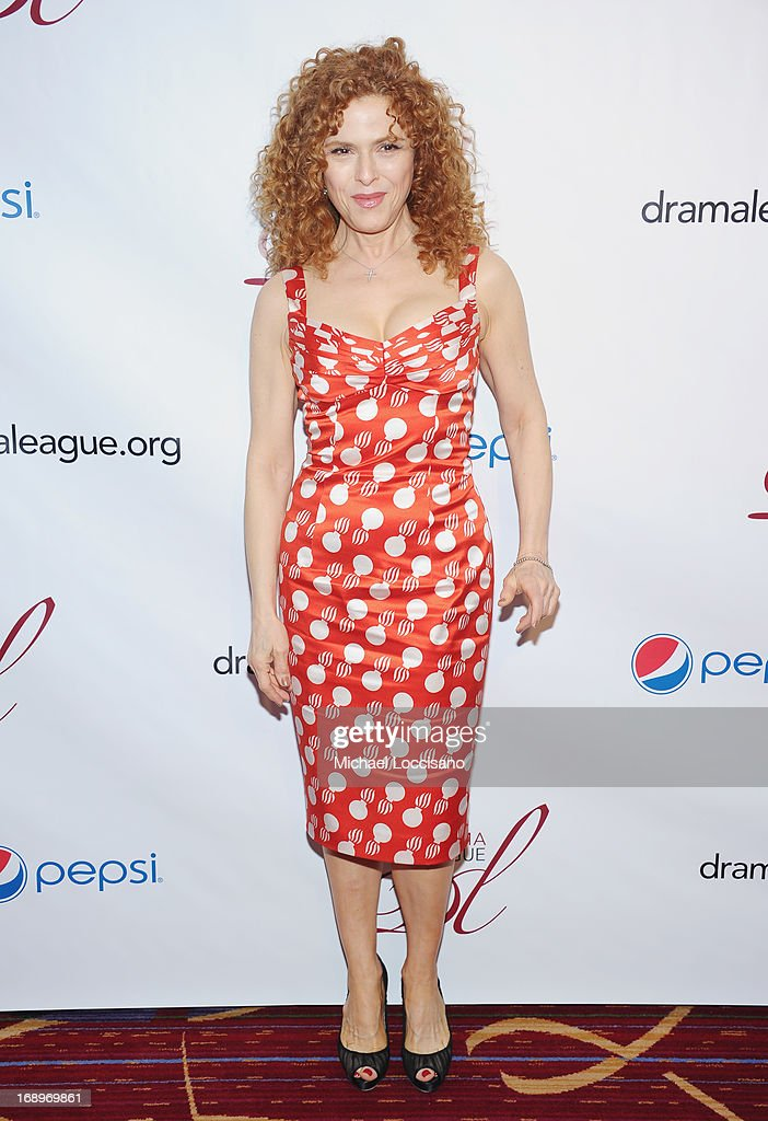 Actress <a gi-track='captionPersonalityLinkClicked' href=/galleries/search?phrase=Bernadette+Peters&family=editorial&specificpeople=203332 ng-click='$event.stopPropagation()'>Bernadette Peters</a> attends the 79th Annual Drama League Awards Ceremony And Luncheon at Marriott Marquis Hotel on May 17, 2013 in New York City.