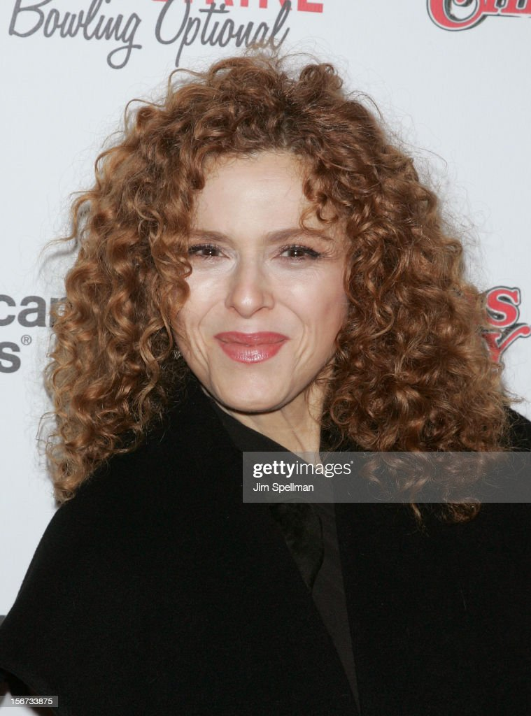 Actress Bernadette Peters attends the 'A Christmas Story: The Musical' Broadway Opening Night at Lunt-Fontanne Theatre on November 19, 2012 in New York City.