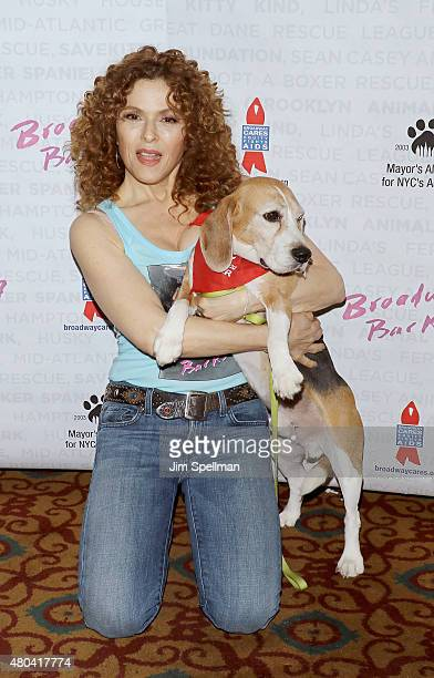 Actress Bernadette Peters attends the Broadway Barks 17 at Shubert Alley on July 11 2015 in New York City
