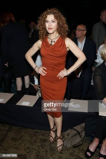 Actress Bernadette Peters attends the Donna Karan New York 30th Anniversary fashion show during MercedesBenz Fashion Week Spring 2015 on September 8...