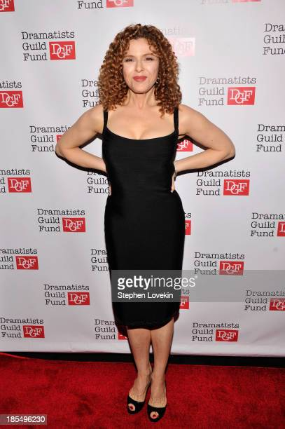 Actress Bernadette Peters attends the Great Writers Thank Their Lucky Stars annual gala hosted by The Dramatists Guild Fund on October 21 2013 in New...