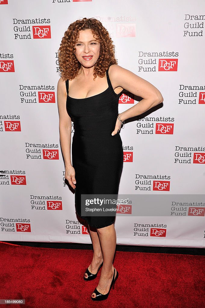 Actress <a gi-track='captionPersonalityLinkClicked' href=/galleries/search?phrase=Bernadette+Peters&family=editorial&specificpeople=203332 ng-click='$event.stopPropagation()'>Bernadette Peters</a> attends the Great Writers Thank Their Lucky Stars annual gala hosted by The Dramatists Guild Fund on October 21, 2013 in New York City.