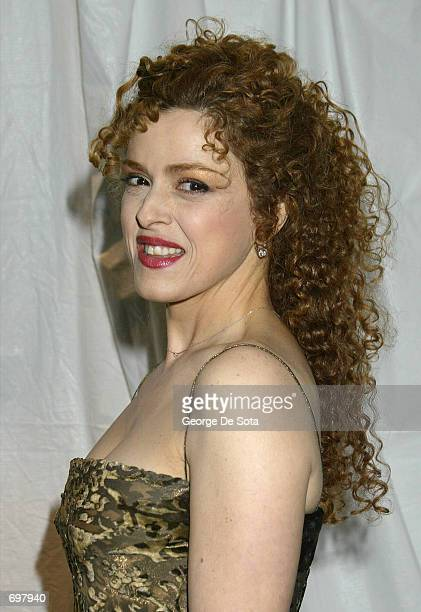 Actress Bernadette Peters attends the Richard Rogers Centennial Benefit concert and dinner February 4 2002 to benefit the Juilliard School at Lincoln...