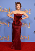 Actress Bernadette Peters of 'Mozart in the Jungle' winner of the award for Best Television Series Musical or Comedy pose in the press room during...