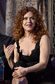 Actress Bernadette Peters speaks onstage during the Screening and QA for Amazon's 'Mozart In The Jungle' at Hollywood Roosevelt Hotel on April 21...