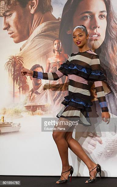Actress Berta Vazquez attends 'Palmeras en la nieve' photocall at Palace hotel on December 16 2015 in Madrid Spain