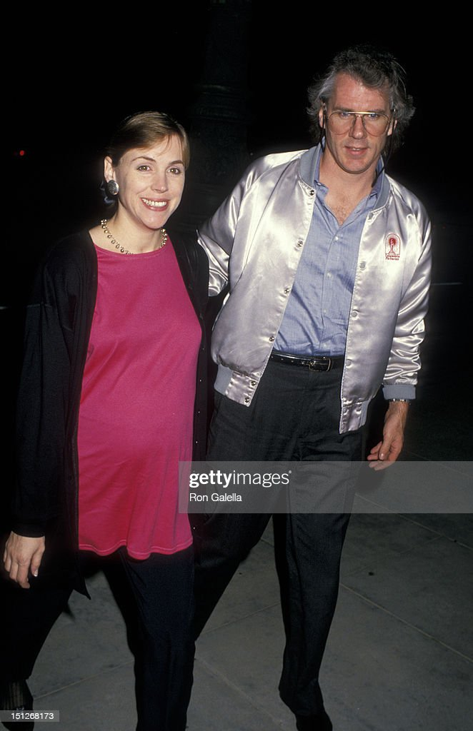 Actress Bess Armstrong and husband John Fiedler attending the screening of 'Four Corners' on November 12, 1987 at the Academy Theater in Beverly Hills, California.