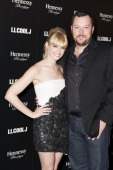 Actress Beth Behrs and actor Michael Gladis attend LL Cool J's third annual PreGrammy Awards Dinner at The Bazaar at the SLS Hotel Beverly Hills on...
