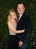 Actress Beth Behrs and actor Michael Gladis attend the Rape Foundation's annual brunch at Greenacres The Private Estate of Ron Burkle on October 4...