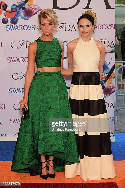 Actress Beth Behrs and designer Stacey Bendet attend the 2014 CFDA fashion awards at Alice Tully Hall Lincoln Center on June 2 2014 in New York City